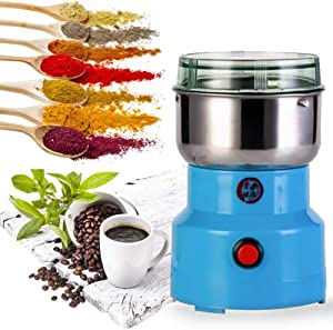 Multifunction Electric Smash Machine,Electric Coffee Bean Milling Smash Machine,Household Electric Cereals Grain Seasonings Spices Milling Machine Grinder for Daily Use