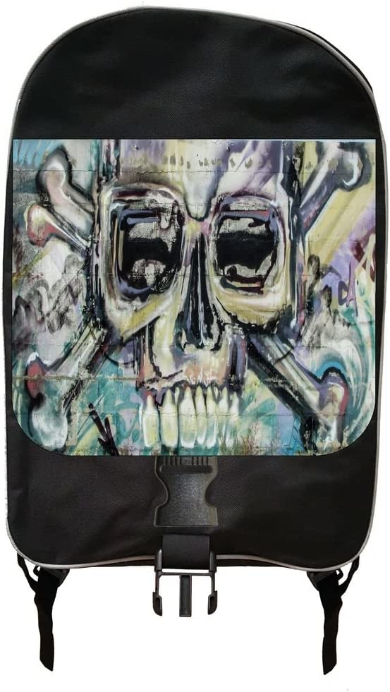 Graffiti Skull and Crossbones Print Design Backpack