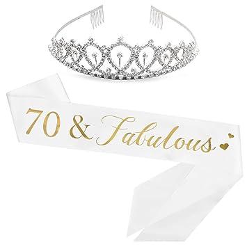70 And Fabulous Sash Rhinestone Tiara Kit