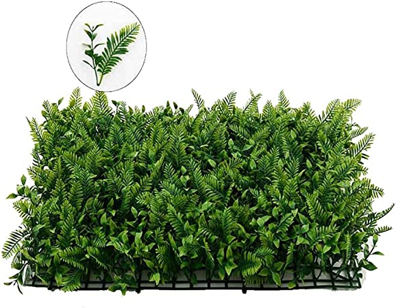 Xiaolin Topia Artificial Hedge Plant Privacidad Valla Pantalla Verdes Paneles Jardín Patio Decoración para el hogar 23.6