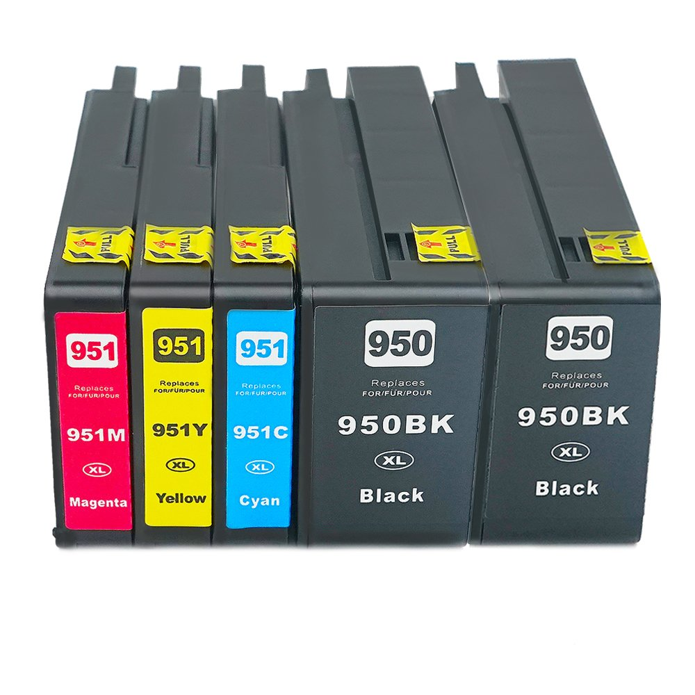 Run Star 5 Pack Remanufactured Compatible with 950XL 951XL Ink Cartridges Work for OfficeJet Pro 8600 8100 8610 8620 8660 8630 8640 8615 8625 251DW 276DW 271DW Printer