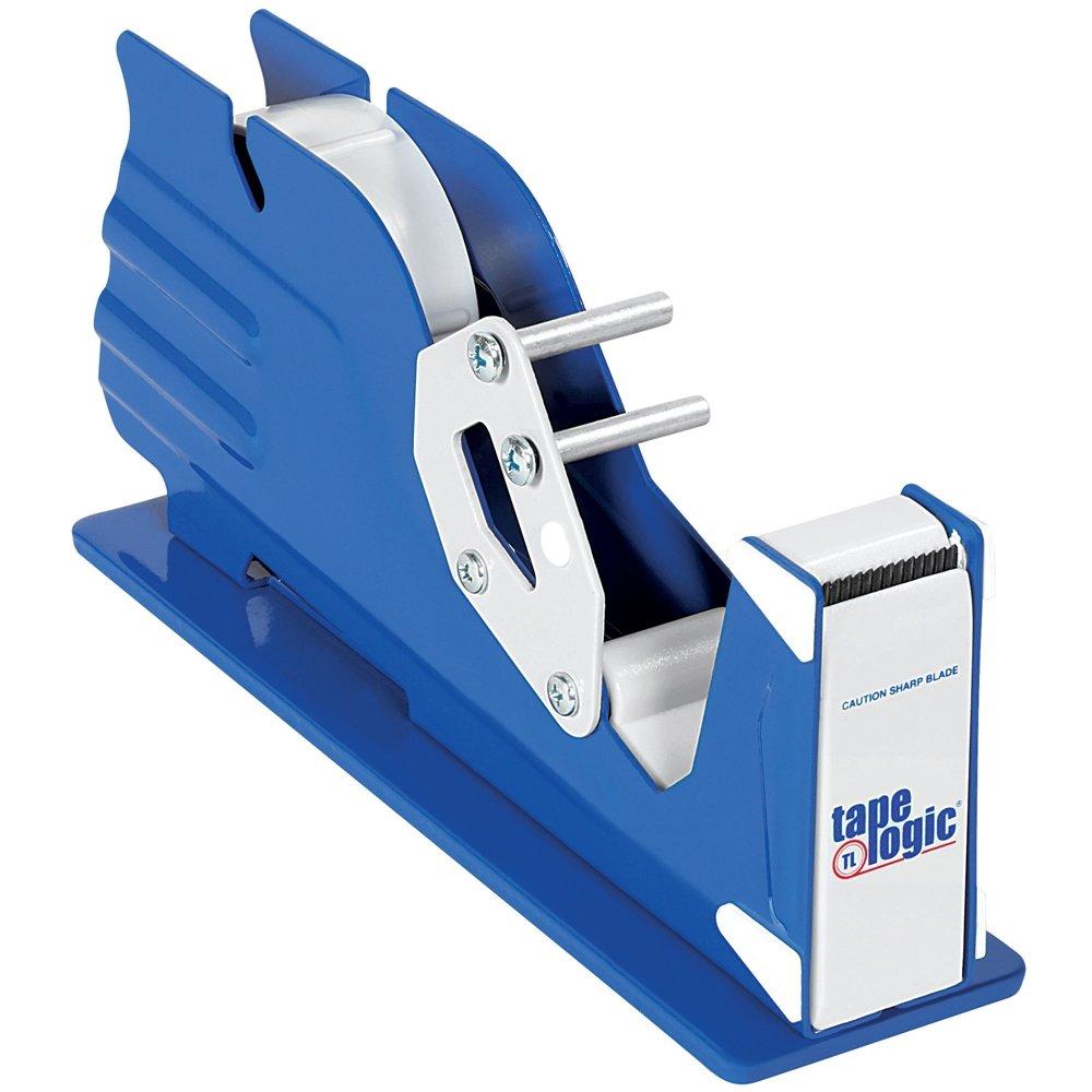 InLine SL7316 Steel Single Roll Table Top Tape Dispenser, 1'' Tape Diameter, Blue