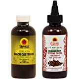 Jamaican Black Castor Oil 4oz + Strong Roots Red Pimento Hair Growth Oil 4 oz
