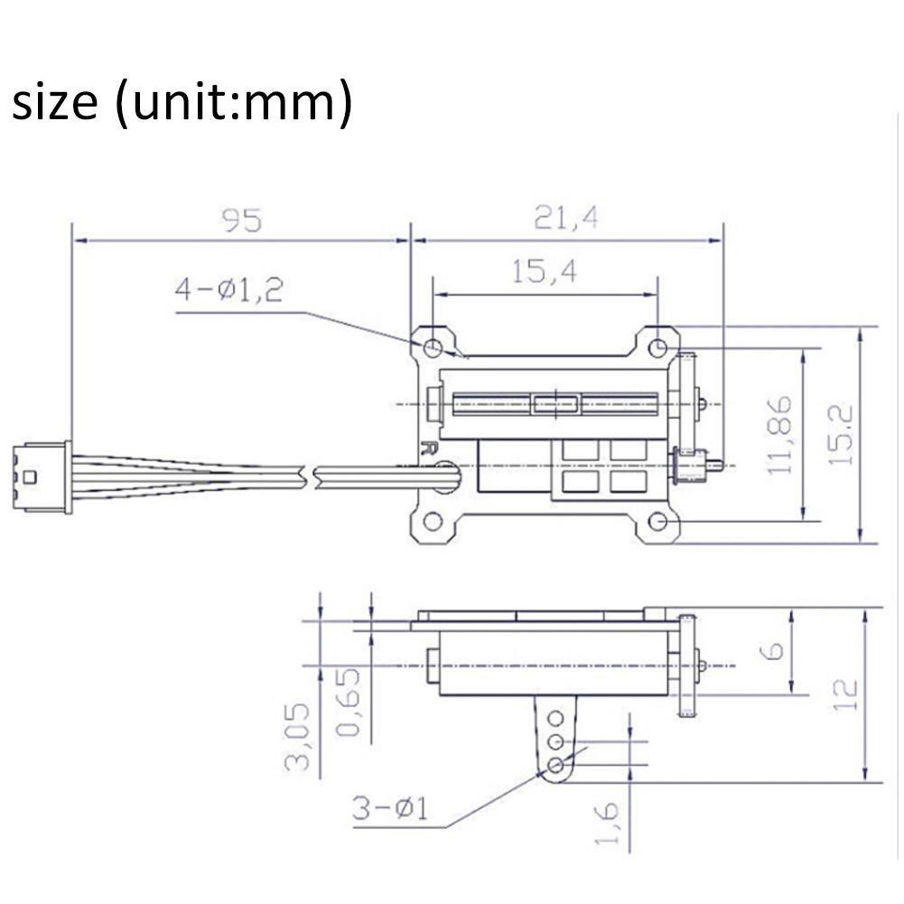 BEATIE Ultra Micro Servo Motor lineal Coreless 1.5/g servo digital Para RC Avi/ón peque/ña