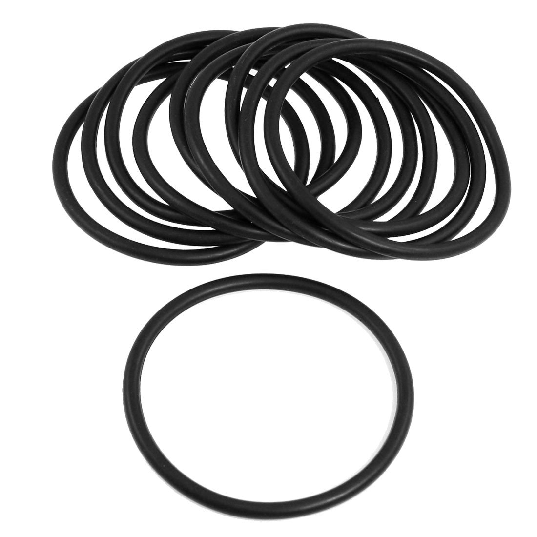 Sourcingmap a12040200ux0451-10 piezas de caucho nitrilo o nbr anillo de anillos de junta de 80 mm x 5 mm