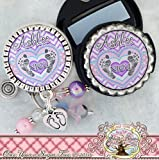 This listing is for one ID Badge Reel and one matching stethoscope ID tag. The badge comes embellished with coordinating beads(may vary slightly) and name/title of choice. It also includes a footprint charm. The personalization inside the heart can r...