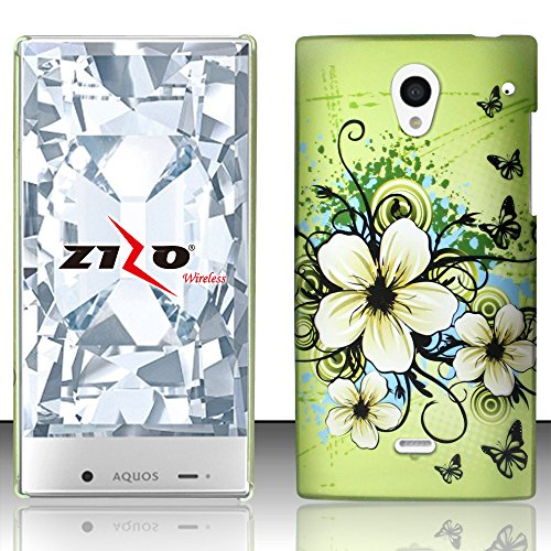 LF 3 in 1 Bundle - Designer Hard Case Cover, Lf Stylus Pen & Droid Wiper Accessory for (Sprint) Sharp Aquos Crystal (Design Hawaiian Flower) (Sharp Aquos Crystal Keyboard compare prices)