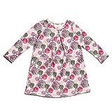 Winter Water Factory Long Sleeve Organic Aspen Baby Girls Dress (3T, Modern Dots)