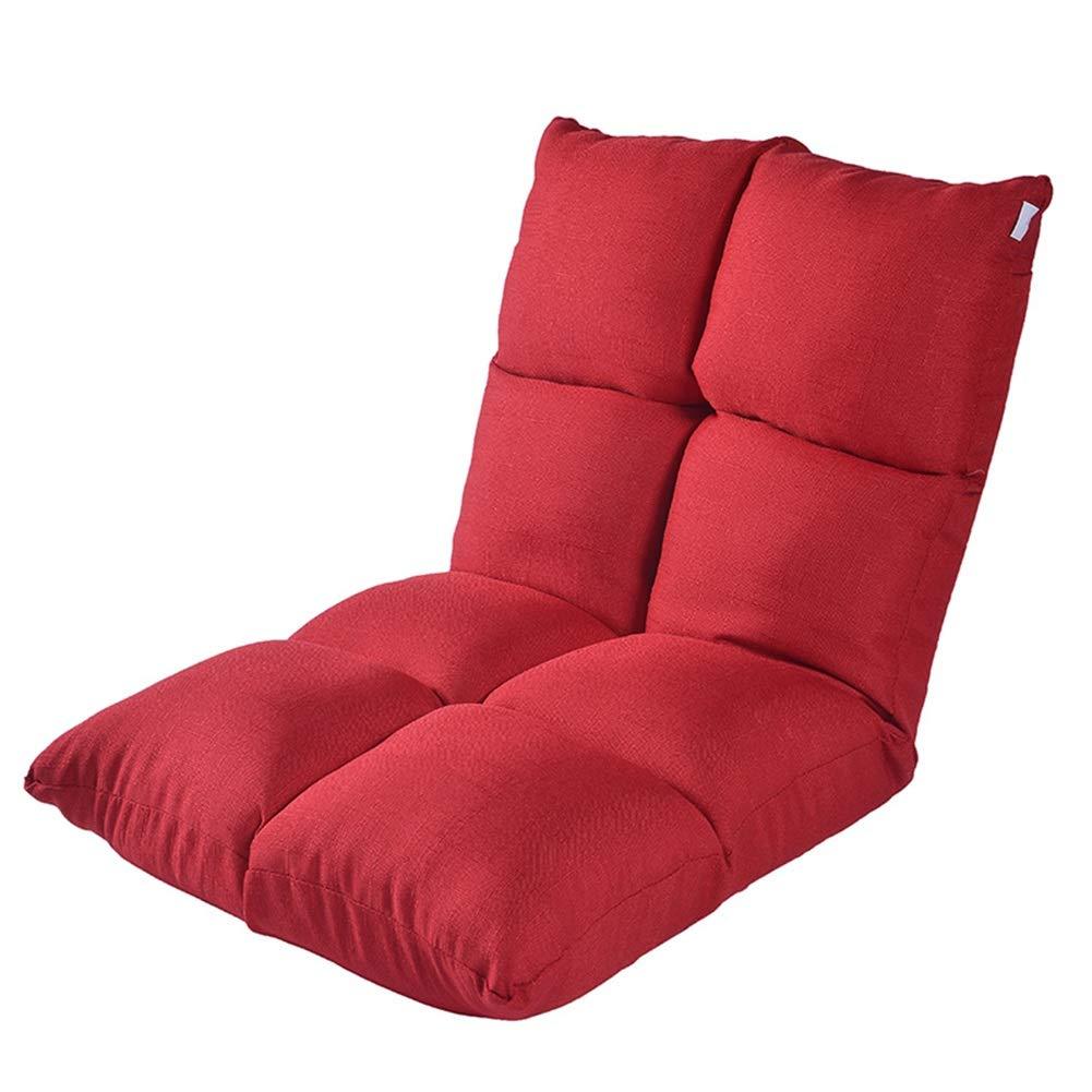 Sitzsäcke Justierbarer faltender Boden-Spiel-Sofa-Stuhl, fauler Recliner für die lesenden Spiele, die nach Hause oder Büro meditieren (Farbe   Grün) rot
