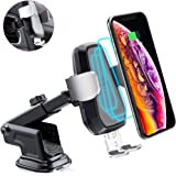 andobil Wireless Car Charger Mount, Automatic 10w Qi Fast Charging Car Phone Holder Air Vent&Dashboard Compatible with iPhone Xs/Xs Max/XR/ X / 8/8 Plus, Samsung Galaxy Note 9/ S9/ S9+/ S8/ S8+