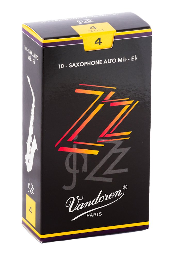 Vandoren SR4115 Alto Sax ZZ Reeds Strength 1.5; Box of 10
