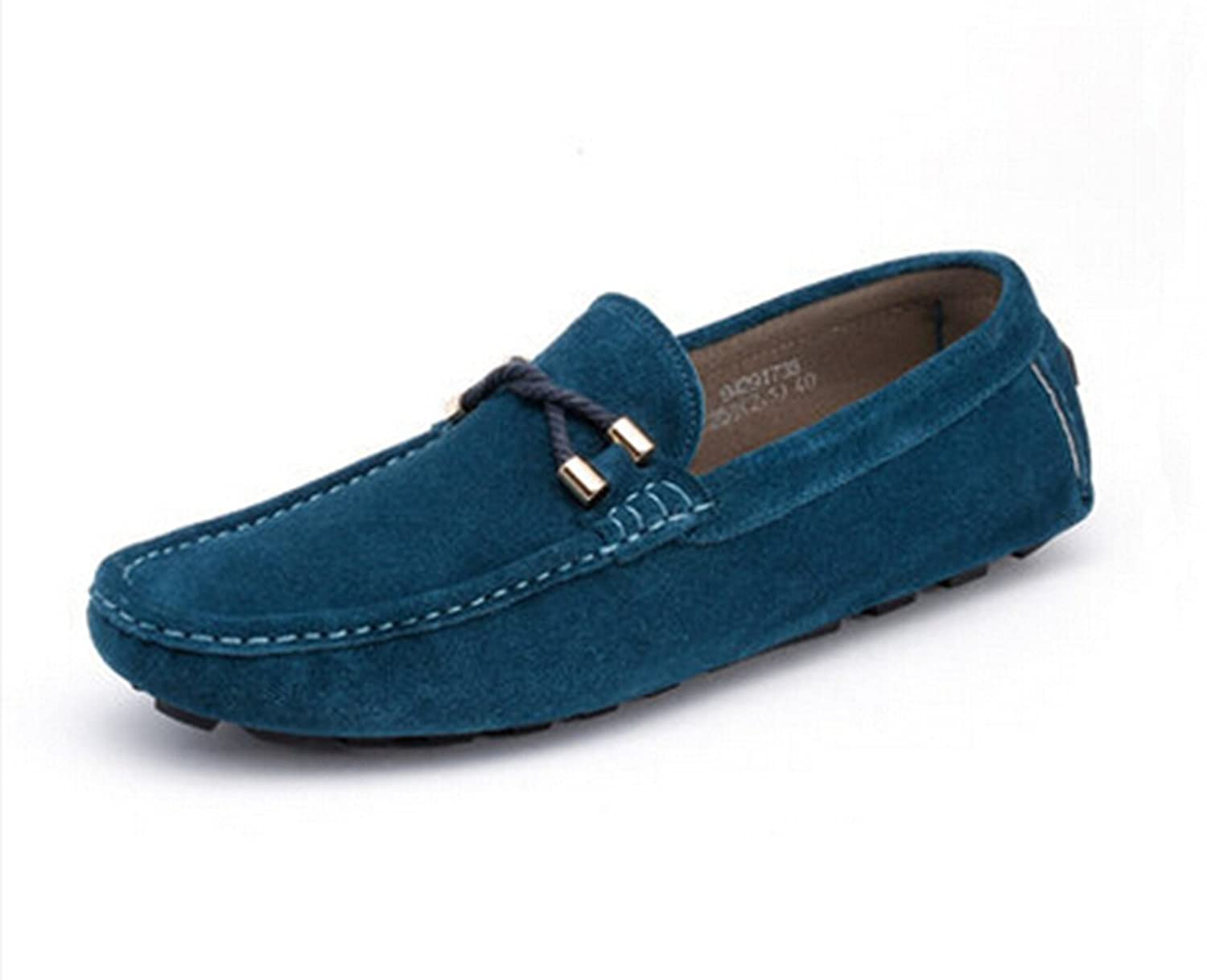 Happyshop(TM) New Nubuck Swede Leather Casual Slip on Loafers Driving Mens Shoes Moccasin