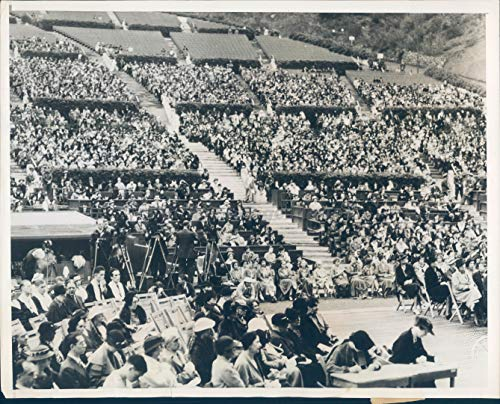 Vintage Photos 1935 Photo Hollywood Bowl First Lady Roosevelt Wife CA Human Needs ()