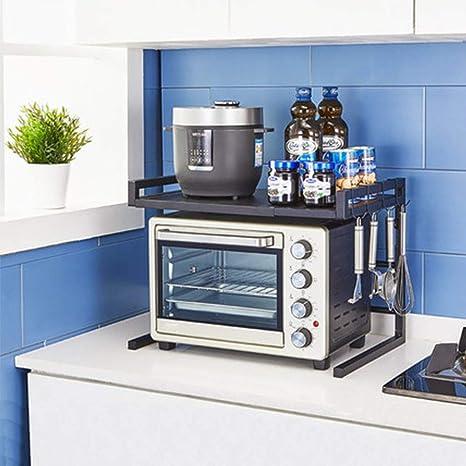 YANQING Soporte Ajustable para microondas de Cocina de 2 ...