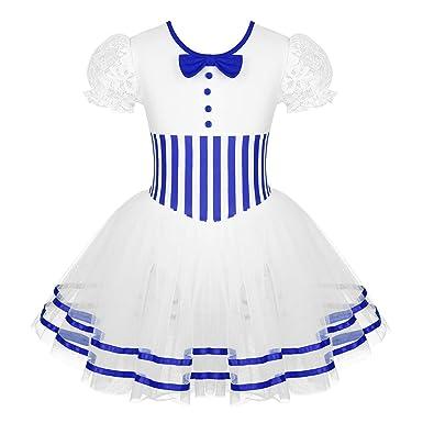 CHICTRY Vestido de Danza Niñas Maillot de Patinaje Artístico Falda ...
