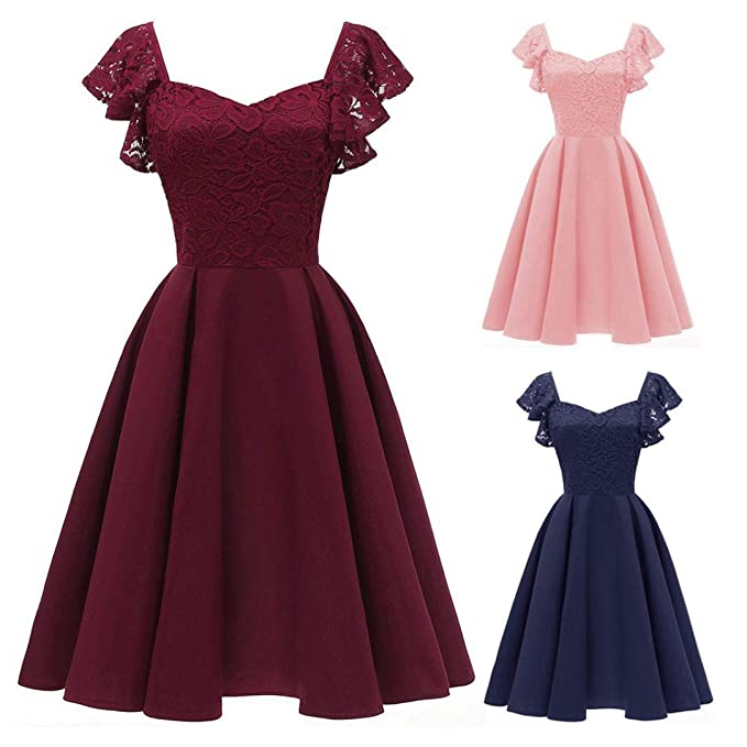 POLP Vestidos Largo ◉ω◉ Vestido Mujer Verano, sin Mangas Mujer, Niña Vestido de Fiesta Vestir Ropa Falda Chaleco Camisetas Vestido Cuello Redondo, ...