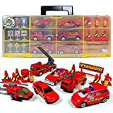 Vehicle fire truck police ambulance helicopter toys for boys (including 6 and 12-slot)