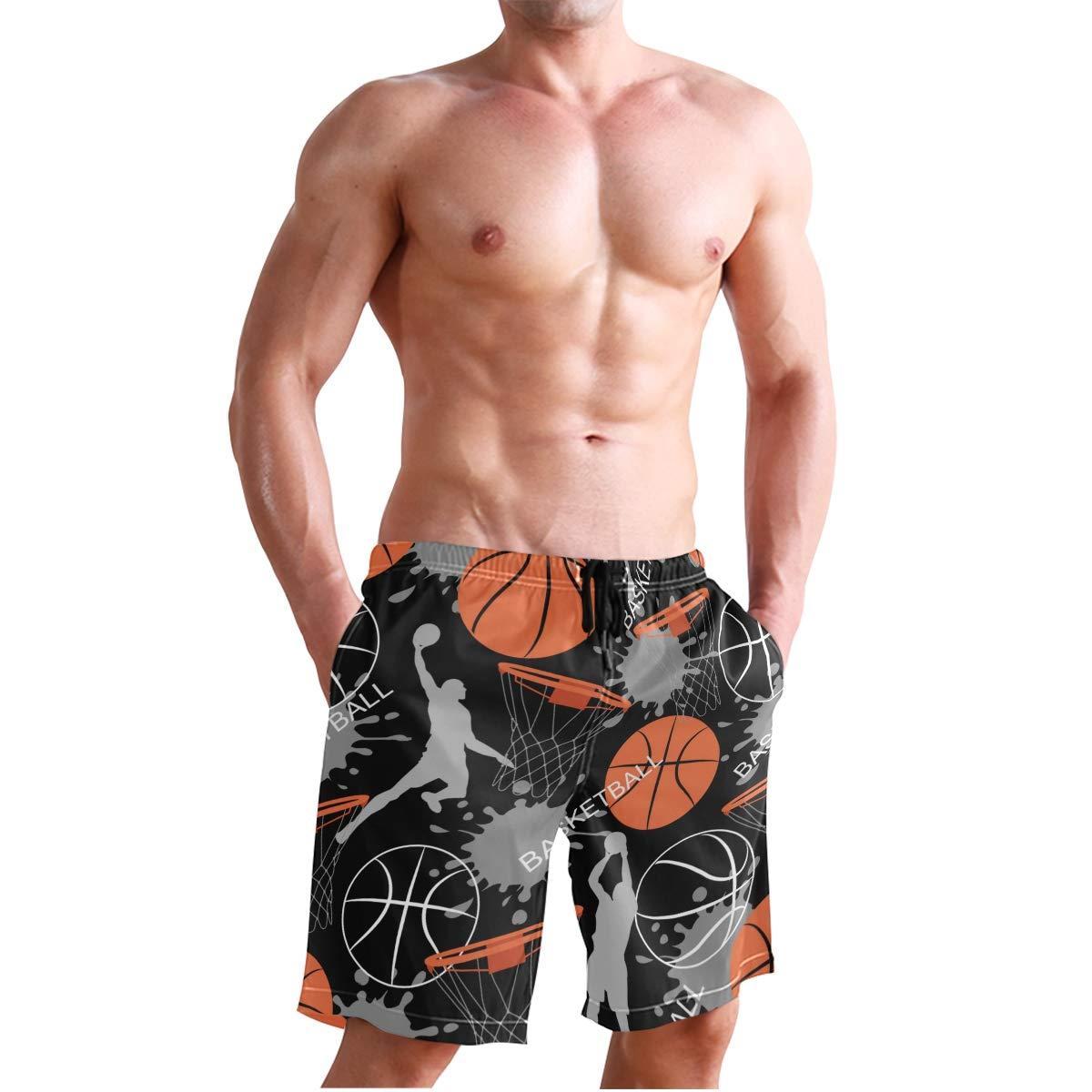 KVMV Basketball Abstract Quick Dry Beach Shorts