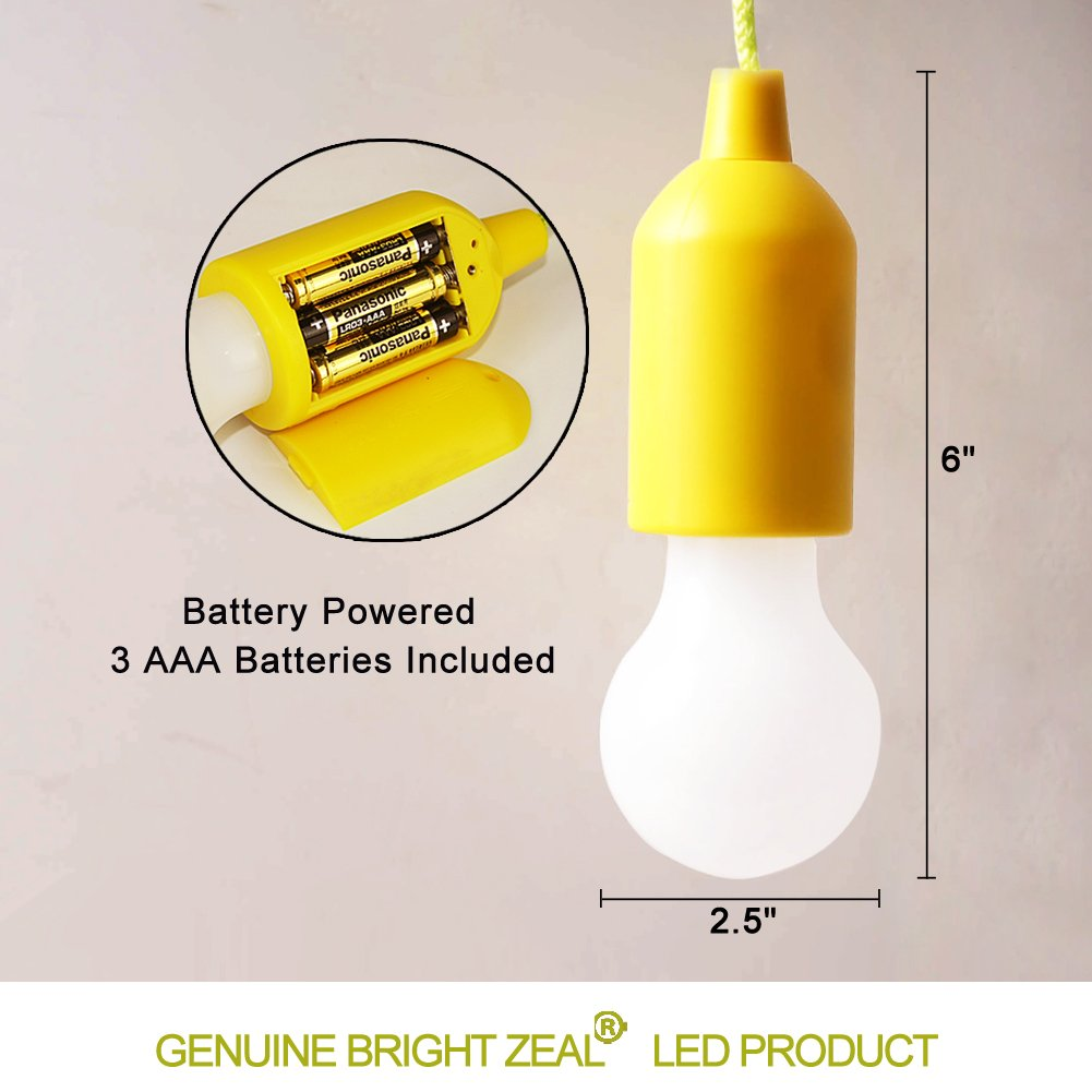 Bright Zeal Color Changing Led Pull Cord Light Yellow Socket Outdoor Lights Led Kids Tent Decor