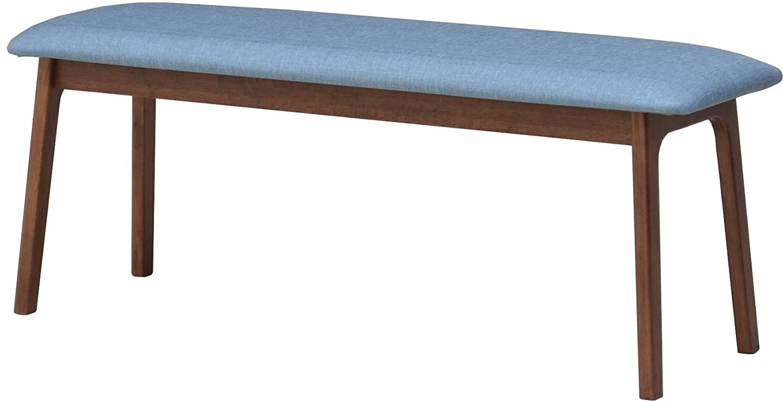 ダイニングベンチ 110cm pani110-ben-339wnbl ウォールナット ファブリック 2人掛 アウトレット 2s-1k-167 B07DQ7677H