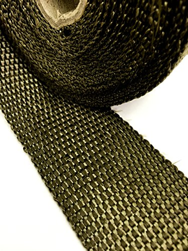 - Titanium LAVA Exhaust heat header pipe wrap roll 2 INCH WIDE X 50 FEET LONG - Thermal Zero handles up to 3000° F - LV116250