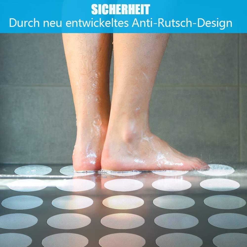 4 Stück Antirutsch Sticker Füsse Anti Rutsch Stopper für Wanne oder Dusche