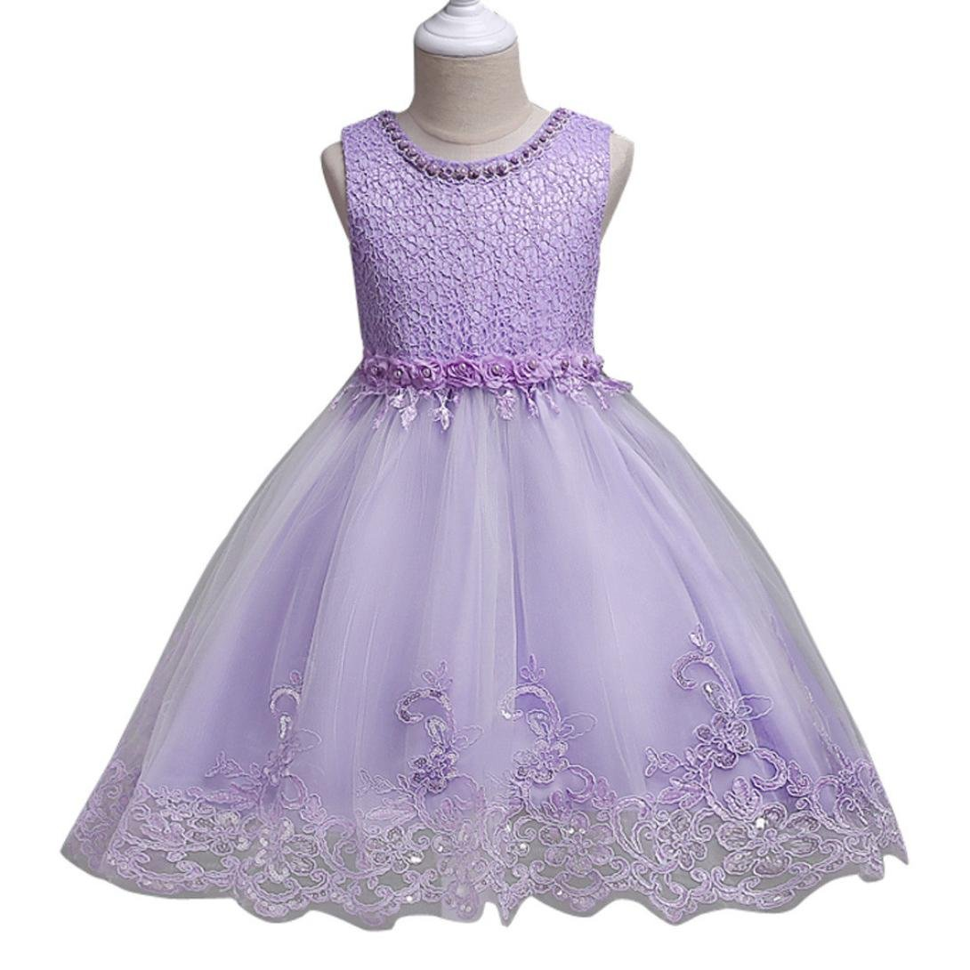 New Stylish Bridesmaid Toddler Wedding Baby Girls Dress Cute Party Kids Clothes