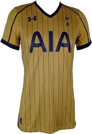 Tottenham Hotspur Mujeres Pin de Rayas Oro Tercera Camiseta de fútbol 2016 – 17
