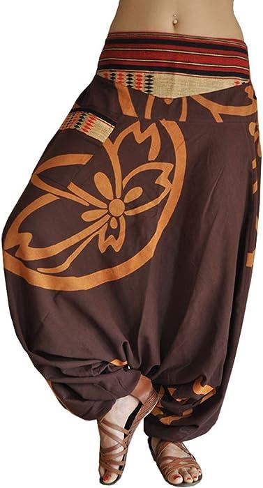 e721c6de18af0 virblatt pantaloni alla turca donna pantaloni etnici larghi donna harem  pants yoga - Anders