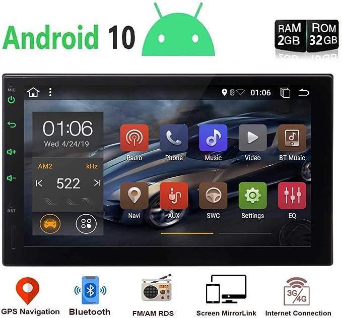 """EINCAR Unidad DIN Cabeza Android Doble Android 9.0 estéreo Bluetooth Coche con 7"""" Pantalla táctil 2 DIN Car Stereo Ayuda del Jugador de Sistema de navegación GPS Radio Reserva de la cámara,"""