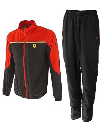 Puma SF conjunto de deporte Hombre negro/rojo XXL: Amazon.es: Ropa ...