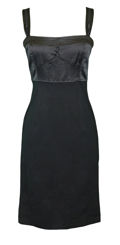 HYBRIS Women's Black Sleeveless Empire Waist Sheath Dress IT Sz II NWT