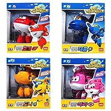 Super Wings Toys Transforming Plane Series HOGI DONNIE JEROME ARI 4-Figures Set