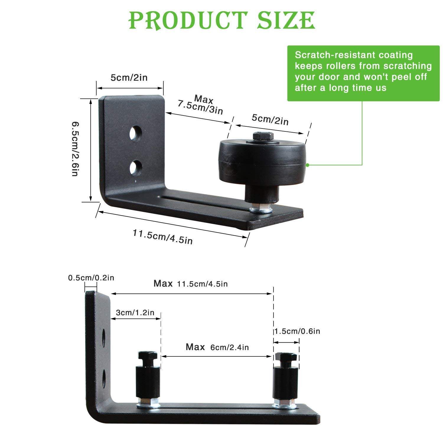 Ultra Smooth Fully Adjustable Channel,Bottom Floor Guide for All Sliding Barn Door Hardware vocheer Barn Door Floor Guide,Wall Mounted Stay Roller Guides with 8 Different Setups