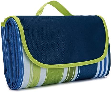 Colchoneta de Picnic Oxford de Tela para colchonetas para Exteriores, Azul y Verde Plaid_145 * 180CM: Amazon.es: Deportes y aire libre