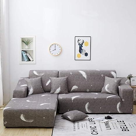 ACSHOW Fundas De Sofas Chaise Longue,Corner Sofa Cover ...