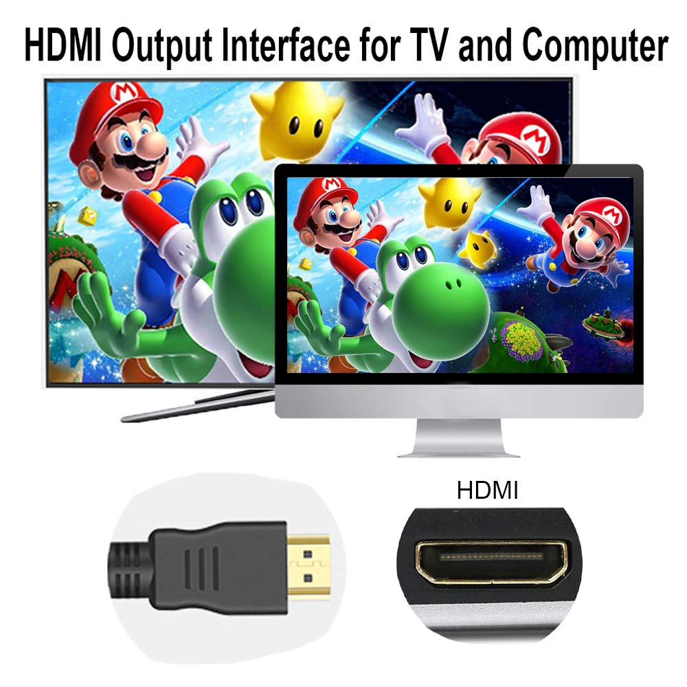 Pokeman Retro Game Console, Super Mini SFC NES Classic Video Game Console HDMI HD Output TV Game System by Pokeman (Image #2)