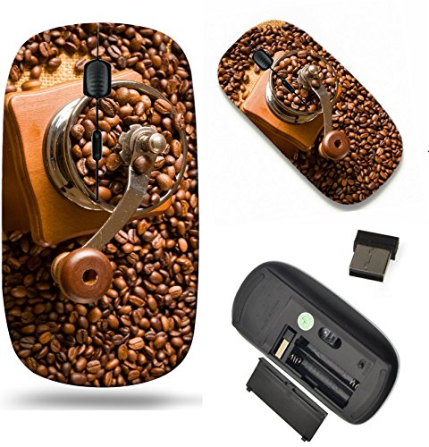 MSD Wireless Mouse Travel 2.4G Wireless Mice with USB Receiver, Noiseless and Silent Click with 1000 DPI for notebook, pc, laptop, computer, mac book design 25375375 vintage manual coffee grinder with