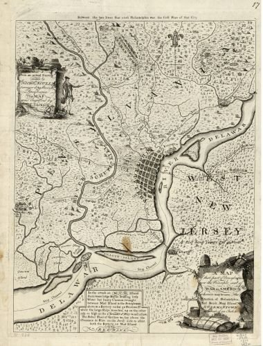 Map Of A Of That Part Of Pensylvania Now The Principle Sic Seat Of War In America  Wherein May Be Seen The Situation Of Philadelphia  Red Bank  Mud Island    Germantown  Pennsylvania Philadelphia Regi