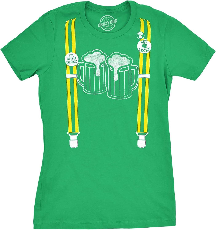 : Womens Suspenders Beer Mugs Im Irish Tonight Pin