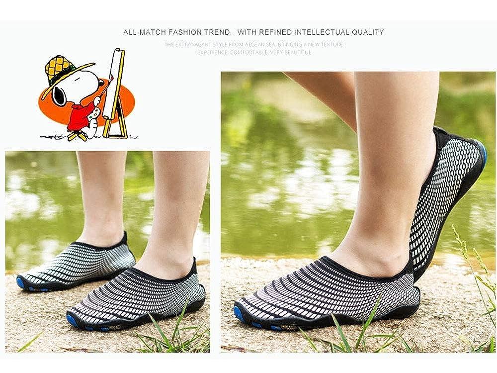 2 Farben Strandschuhe Im Freien Geschwindigkeitsst/örung Wasser Stromaufw/ärts Schuhe CXYGZLJ Schwimmschuhe F/ür Damen Und Herren Tauchen Schnorchelschuhe