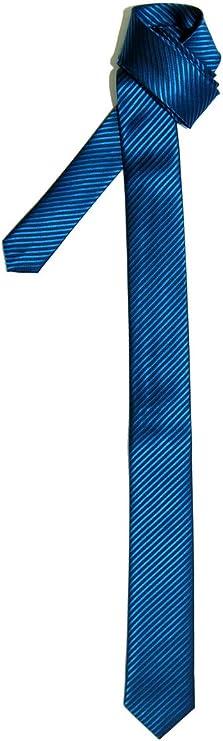 Retreez - Corbata fina a rayas, varios colores azul Azure Blue ...