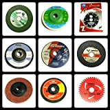 TOOLSCENTRE 333 Giant Combo of 9 Pieces :- Grinding Wheels /Discs Suitable for Cutting Wood /Metal /Brick /Marble, Grinding, Polishing and Buffing.