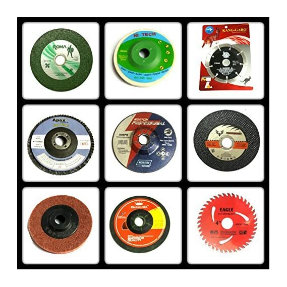 KROST 333 Giant Combo of 9 Pieces (Grinding Wheels/Discs Suitable for Cutting Wood/Metal/Brick/Marble, Grinding