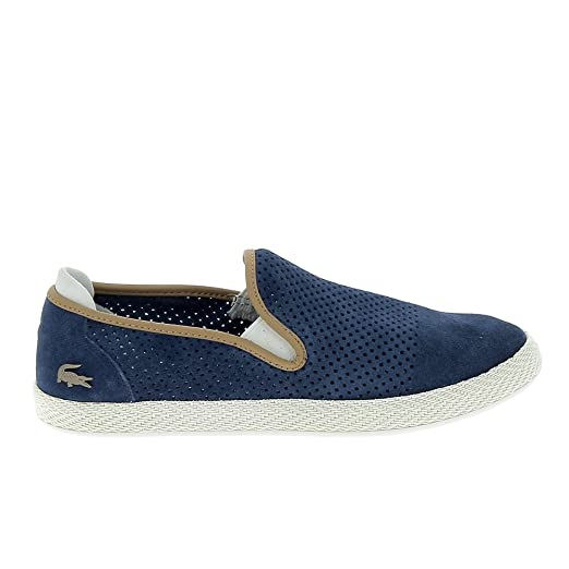 58e66c124497 Amazon.com  Lacoste Tombre Slip-On Mens Sneakers Navy  Clothing