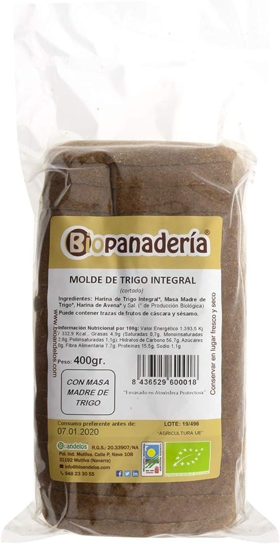 Biopanadería Pan de Molde de Trigo Integral y Masa Madre Natural Ecológico Artesano Gourmet: Amazon.es: Alimentación y bebidas
