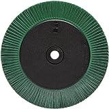 Scotch-Brite(TM) Radial Bristle Brush, Aluminum Oxide, 6000 rpm, 8 Diameter x 1 Width, 50 Grit, Green (Pack of 1)