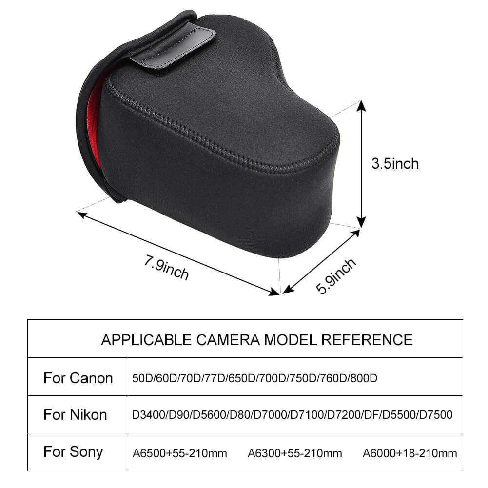 Pentax Compatible for Nikon Canon CADeN DSLR SLR Camera Sleeve Case with Neoprene Protection Sony and More Black