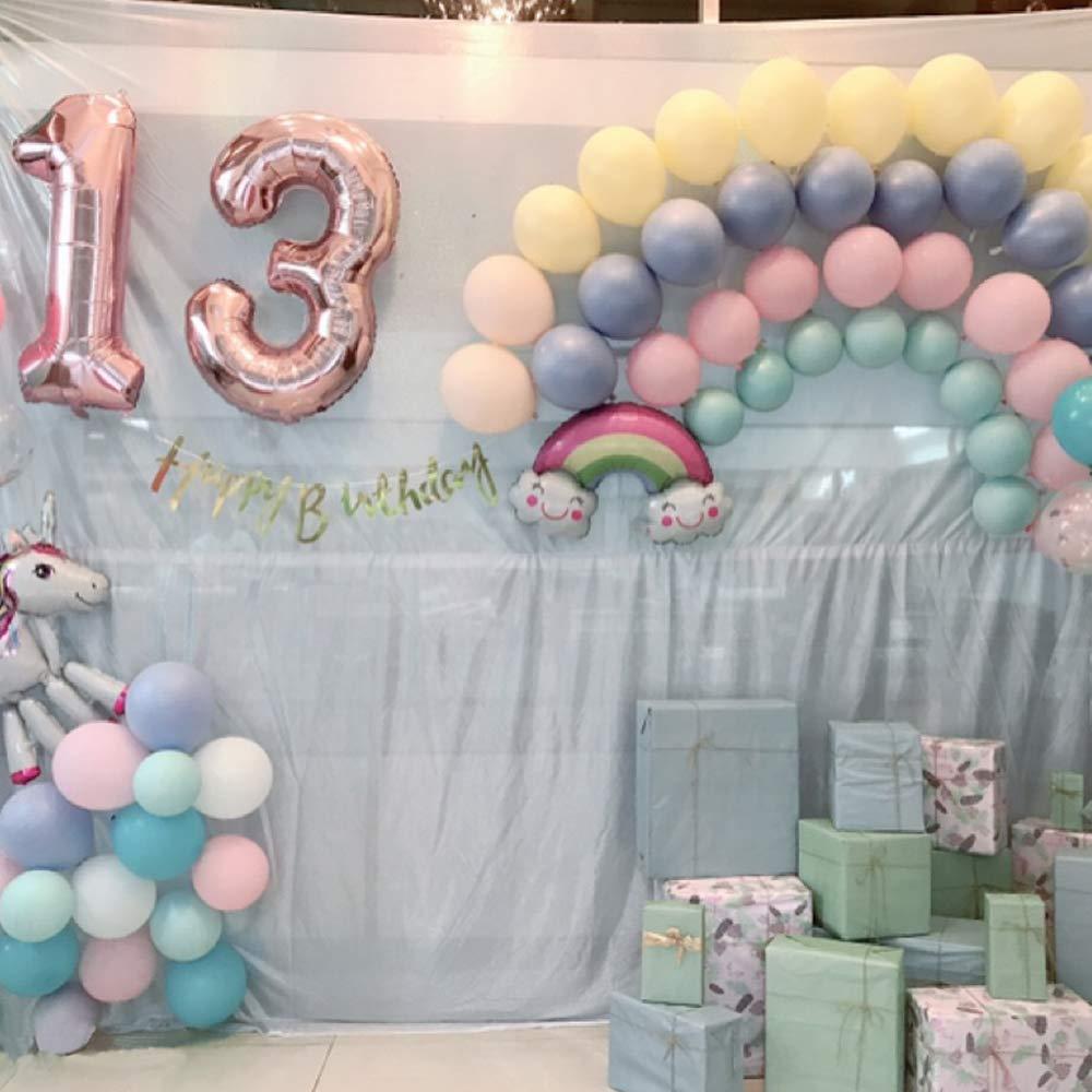 Globo gigante para la decoraci/ón de la fiesta de cumplea/ños 40Figuras de globos con globo de l/ámina de helio inflable Prom Number 13 Globo Chica de oro rosa 2 Globos N/úmero 13 xxxl 100cm
