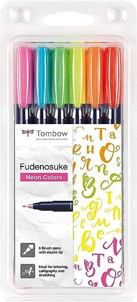 Fudenosuke 1 /à bout double noir et gris Lot de 3 feutres Tombow 1 doux 1 dur